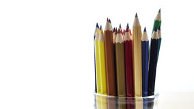 Many different colored pencils Stock Photos