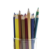 Many different colored pencils Royalty Free Stock Photo