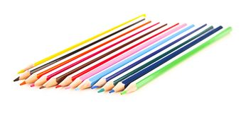 Many different colored pens Stock Photo