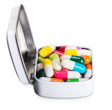 Many different colored pills isolated on white Royalty Free Stock Photos