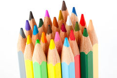 Many Different Colorful Pencils Royalty Free Stock Photography
