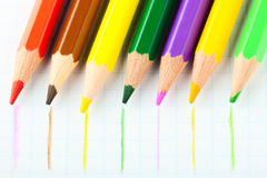 Many Different Colorful Pencils Stock Photography