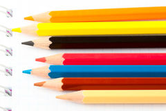 Many Different Colorful Pencils Stock Photo
