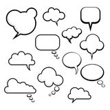 Many different comic speech bubbles Stock Photography