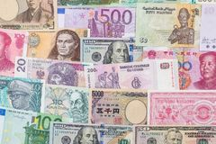 Free Many Different Currency Banknotes From World Country Stock Photos - 108028373
