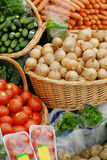 Many different ecological vegetables at market Stock Images