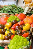 Many different ecological vegetables on market Stock Image