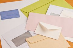 Many different envelopes Royalty Free Stock Image