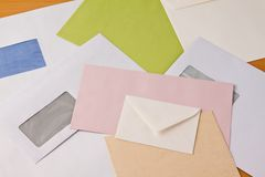Many different envelopes Royalty Free Stock Photography