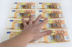 Many different euro banknotes Royalty Free Stock Photo