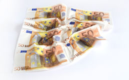 Many different euro banknotes Stock Photography