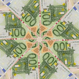 Many different euro bills. back side Royalty Free Stock Image
