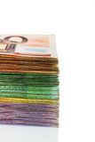 Many different euro bills Royalty Free Stock Images