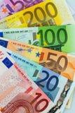 Many different euro bills Stock Photos
