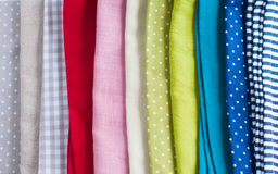 Many different fabrics Royalty Free Stock Images