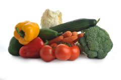 Many different fresh vegetables Stock Image