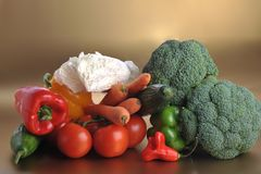 Many different fresh vegetables Royalty Free Stock Photos