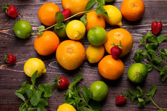 Many of different fruits. stock photography