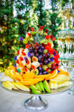 Many different fruits an the wedding reception Royalty Free Stock Photo