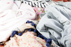 Many different garments Royalty Free Stock Photo