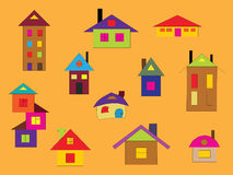 Many different houses Royalty Free Stock Image