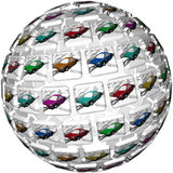 Many Different Illustrated Cars Choices Variety Selection stock illustration