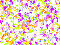 Many different multicolored open flowers background Royalty Free Stock Photos
