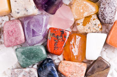 Many different natural stones Stock Photography
