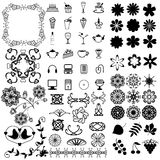 Many different objects on white background Royalty Free Stock Image