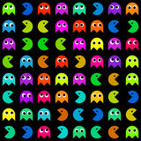 Many different Pacman icons Royalty Free Stock Photos