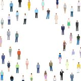 Many different people, detailed drawing, background vector illus. Tration Stock Photos