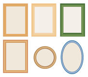 Many different photo frames Stock Image