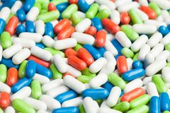 Many different pills Stock Image