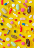 Many different pills Stock Photography
