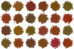 Many different sealing-wax stamp shape Royalty Free Stock Images