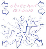Arrows Sketched Royalty Free Stock Photo