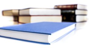 Many different sized colored and shaped books Stock Image