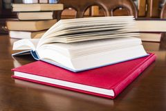 Many different sized colored and shaped books Royalty Free Stock Images