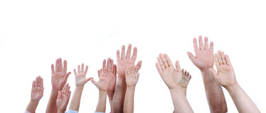 Many different sizes hands Stock Photography