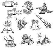 Many different spacecrafts,  Royalty Free Stock Photography