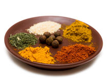 Many Different Spices Stock Photo