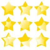 Many different stars Royalty Free Stock Photo