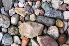Many different stones Royalty Free Stock Image