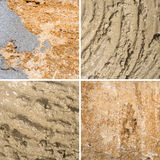 Many different textures of sea-shore Stock Photos