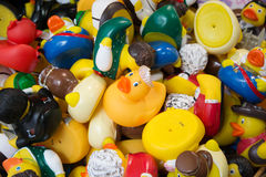Many different toy ducks Royalty Free Stock Photo