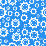 Many different types cogwheel, white icons on blue Royalty Free Stock Photo