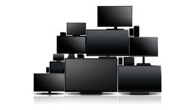 Many different types of screens royalty free stock photo