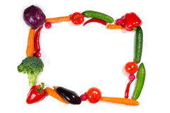 Many different vegetarian vegetables like frame. Stock Photography