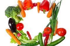 Many different vegetarian vegetables like frame Stock Image