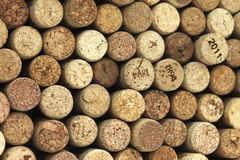 Many different wine corks in the background Royalty Free Stock Photography